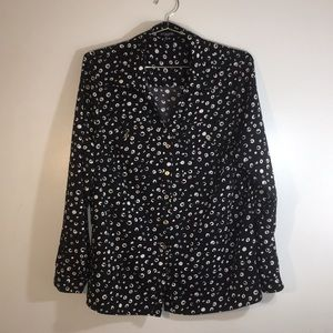 Notations Women 1X Button Up Blouse